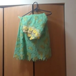 Authentic African lace outfit